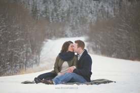 Winter Engagement Session tessamarie.ca
