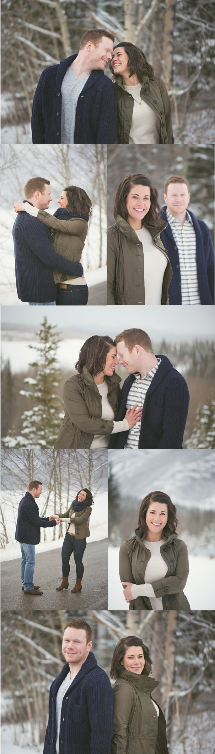 winter mountain engagement session tessamarie.ca