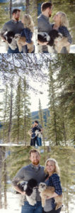 Winter Mountain Engagement Photos