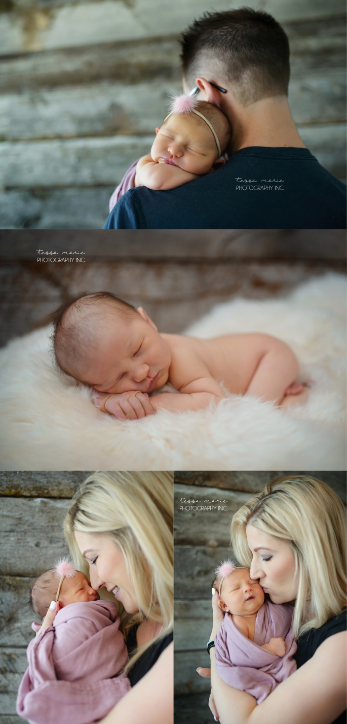 Baby Girl - Lifestyle Newborn Portraits - Drayton Valley Family Photographer - www.tessamarie.ca